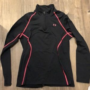 Under Armour size L semi fitted quarter zip jacket